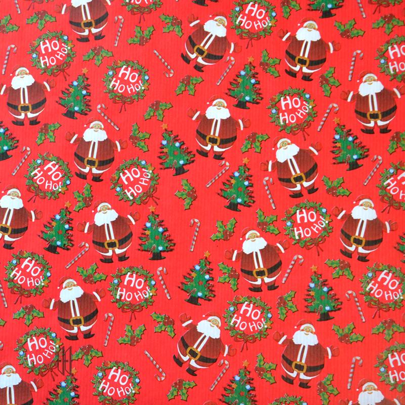 geschenkpapier weihnachtsmann rot mit text von reinhardt. Black Bedroom Furniture Sets. Home Design Ideas