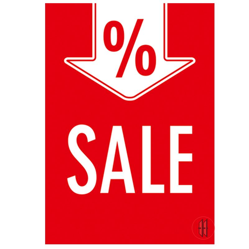 Rahmenschild Sale % Zeichen (10 Stück)