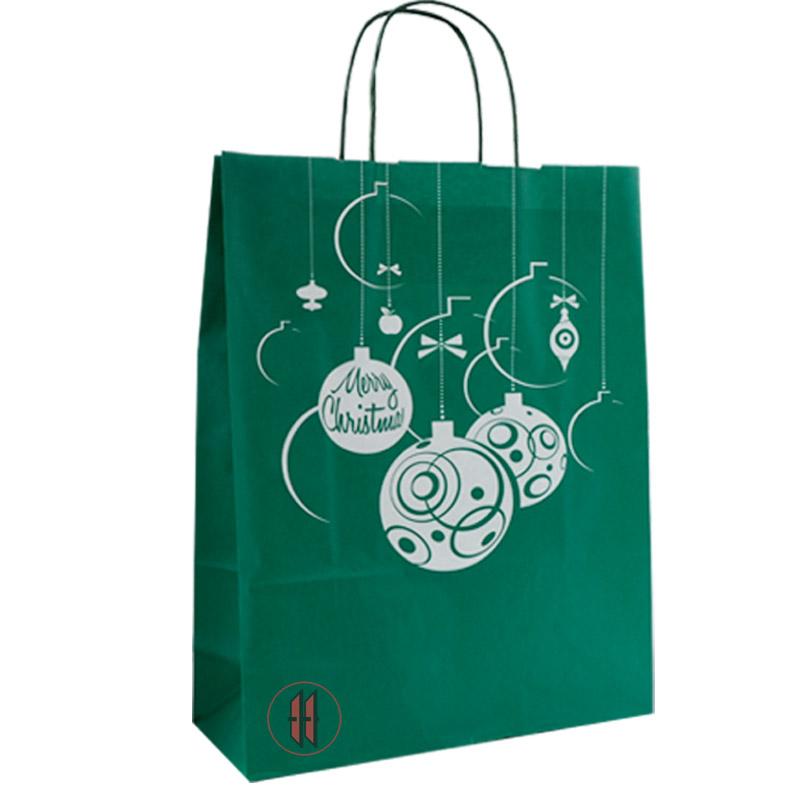 Christbaumkugeln Hellgrün.Papiertragetasche Tragetasche Weihnachtstragetaschen